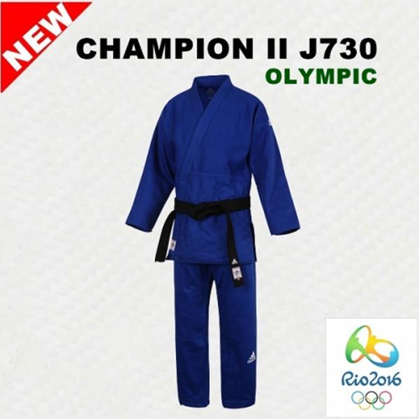 아디다스 J730 챔피언2 올림픽선수용 유도복 청색